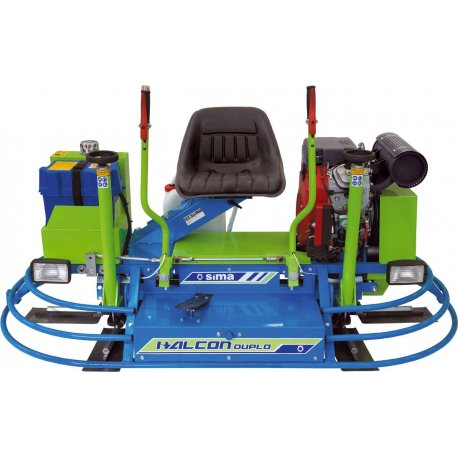 SIMA Betonglättmaschine mit Aufsitz und Doppelglätter Halcon Duplo Honda23Hp